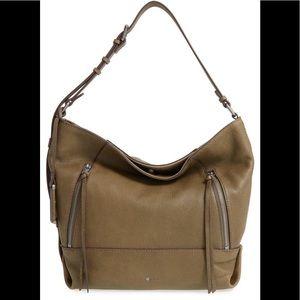 ed60894a14 Treasure   Bond Dark Brown Leather Hobo Purse